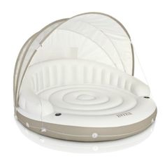 INTEX-Canopy-Island-Lounge-Floating-Swimming-Pool-with-Detachable-Sunshade-new