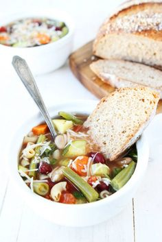 """<p>Recipe here <strong><a href=""""http://www.twopeasandtheirpod.com/slow-cooker-minestrone-soup/"""" target=""""_blank"""">SLOW COOKER MINESTRONE SOUP</a></strong></p>"""