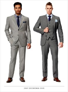 you look good. gray groomsman ideas. http://www.weddingchicks.com/2014/02/27/win-1000-to-outfit-your-bridal-party/