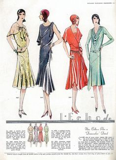 McCall's magazine, December 1929 featuring McCall 5909 and 5931 1920 Style, Style Année 20, 30s Fashion, Art Deco Fashion, Fashion Photo, Vintage Fashion, Victorian Fashion, Fashion Ideas, Fashion Inspiration