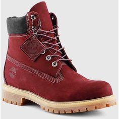 Timberland - Men's 6-Inch Premium Waterproof Boots (Dark Port Nubuck)... (4.510 RUB) ❤ liked on Polyvore featuring men's fashion, men's shoes, men's boots, men's work boots, timberland mens boots, mens waterproof work boots, mens work boots, mens water proof boots and mens boots