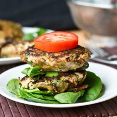 Sweet Potato Spinach Bacon Burgers - Tastes of Lizzy T's