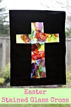 Stained glass cross project