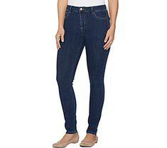 LOGO by Lori Goldstein Petite 5-Pocket Skinny Jeans