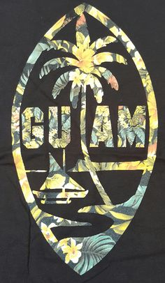 Represent your love of Guam with these BRAND NEW Floral Guam Womens Tank. The tropical vibe against the black backdrop displays your bold love of Guam! 100% Cotton, Standard Fit.
