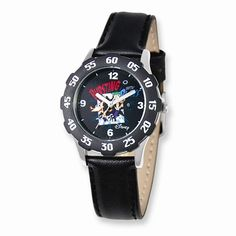 Disney Phineas & Ferb Black Leather Band Tween Collection Watch