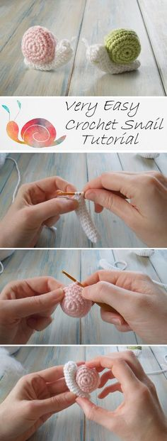 Very Easy Crochet Snail Tutorial - Design Peak