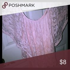 On or Off the Shoulder Top Linen/cotton top w/lace covering, wear it two ways! Annabelle Tops Blouses