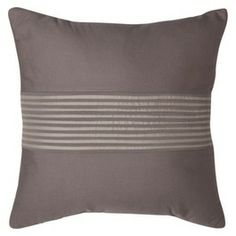 "Room Essentials® Textured Stripe Toss Pillow - Gray (18x18"")  $17"