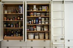 Great article on pantry organization but I'm mostly pinning this cause I want the ladder in my kitchen.