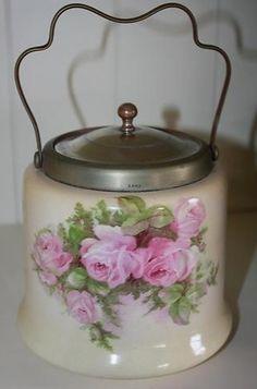Antique English Biscuit Barrel 1900's
