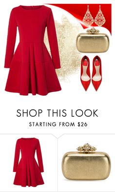 """""""✨"""" by jasemin2607 ❤ liked on Polyvore featuring WithChic, Alexander McQueen and Kendra Scott"""