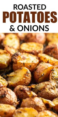 Oven roasted potatoes and onions are an easy and classic side dish that everyone loves. Oven Potato Recipes, Roasted Potato Recipes, Carrot Recipes, Onion Recipes, Oven Fried Potatoes, Roasted Potatoes And Onions, Broasted Potatoes, Carrots In Oven, Potato Side Dishes