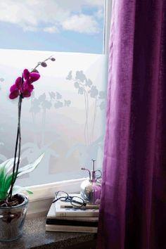 Ikkunakalvo Orkidea 34x98 cm