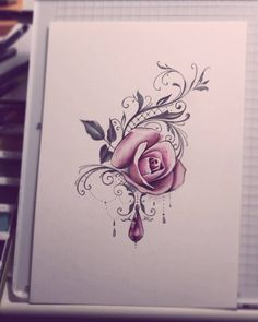 "327 Likes, 10 Comments - Sanni Voutilainen (@sanni_ink) on Instagram: ""I never get bored with roses. Shoulder piece. #lacetattoo #rosetattoo #drawing #watercolorpainting…"""