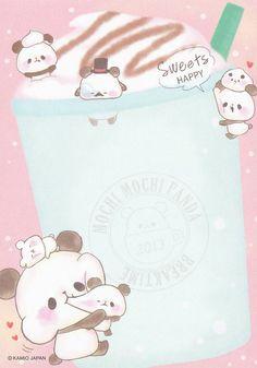 """Kamio """"Mochi Mochi Panda"""" Memo w/ Pencil Board Cute Panda Wallpaper, Kawaii Wallpaper, Cute Wallpaper Backgrounds, Cute Animal Drawings, Kawaii Drawings, Cute Drawings, Kawaii Panda, Kawaii Art, Panda Wallpapers"""