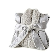 """Little Giraffe - Luxe™ Satin Cover Up Adult Luxuriously soft and super cozy, our Luxe™ Satin cover-up is an absolute """"WOW!"""" This unisex cover-up is made with beautiful satin, and has a lavish faux fur interior. Little Giraffe, Every Mom Needs, Cool Baby Clothes, Snow Leopard, Baby Boutique, Baby Design, Baby Gifts, Cover Up, Satin"""