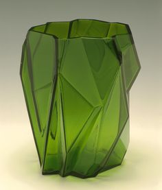 """Reuben Haley (American, 1872–1933). Produced at Consolidated Lamp and Glass Co. (Coraopolis, Pennsylvania  1893–1932, 1936–64). """"Ruba Rombic"""" Vase, 1928-36."""