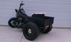 Harley Trike with mini truck bed 4 Wheels Motorcycle, Tricycle Motorcycle, Motorcycle Rallies, Motorcycle Design, Harley Davidson Forum, Harley Davidson Trike, Trike Kits, Build A Bike, Custom Trikes