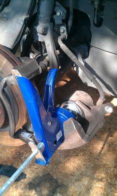 Make a brake pad spreader. Brilliant!
