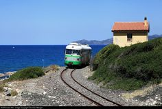 Touristic Train from Bosa Marina to Macomer, Sardinia. This Train runs only in Summer Seasons from June to Septembre on Fridays and Satudays. The Train leaves the Coast Line at Bosa Marina to climb ub 600m to Tresnuraghes and Macomer.