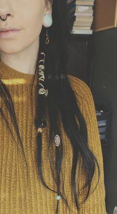 einzelne dreads, verziert, offene spitzen