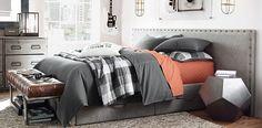 Axel Upholstered Wide Bedroom | RH TEEN