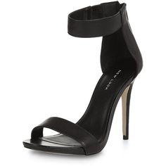 Black Ankle Strap Platform Heels featuring polyvore, fashion, shoes, pumps, black, platform shoes, elastic shoes, open toe platform pumps, zip shoes and platform pumps