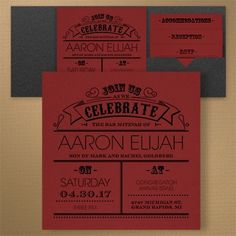 Poster Proclamation - Invitation and Blank Pocket - Claret  |  COLOR OPTIONS     | 40% OFF |  http://mediaplus.carlsoncraft.com/Parties--Celebrations/Bar--Bat-Mitzvah-Invitations/3125-BA32693PIBCL-Poster-Proclamation--Invitation-and-Blank-Pocket--Claret.pro?pvc=&qty=0