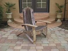 Wine Barrel Adirondack Chair (medium Size) Woodworking Plans, One Hardware Kit…