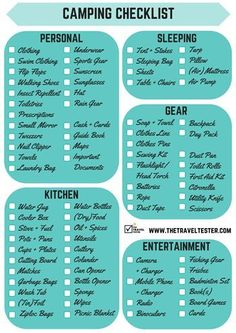Are you planning a camping trip and not sure what to pack? Here is your FREE and Complete Camping Checklist to Download    The Travel Tester