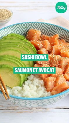 Sushi Recipes, Healthy Diet Recipes, Salmon Recipes, Raw Food Recipes, Brunch Recipes, Healthy Cooking, Healthy Eating, Cooking Recipes, Salads