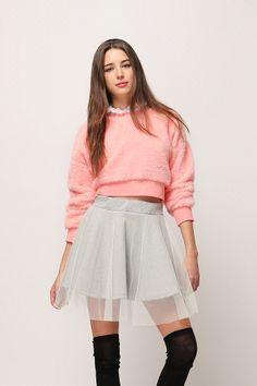 Veiled Skater Skirt // Storets.com // #STORETS #MiniSkirt