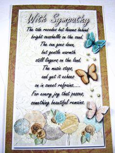 Sympathy card With sympathy condolence card by littledebskis