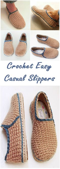 Crochet Casual Slippers