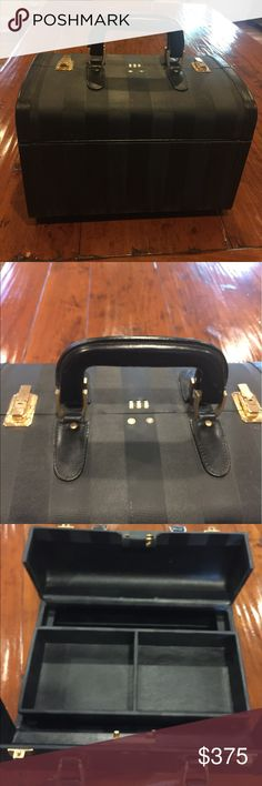 Fendi Travel/Vanity Case! In very good condition has some minor wear.  A few spots on bottom of bag. And light wear on one side.  See pictures.  Inside has one minor Vintage and unique. Fendi Bags Cosmetic Bags & Cases