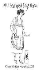 Pellon® Easy Pattern Copy Vintage 1922 Scalloped Edge Bib Apron Pattern
