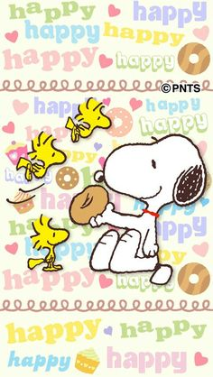 Snoopy and friends Snoopy Love, Snoopy E Woodstock, Happy Snoopy, Peanuts Snoopy, Charlie Brown And Snoopy, Snoopy Wallpaper, Cartoon Wallpaper, Happy Birthday Snoopy Images, Good Morning Snoopy