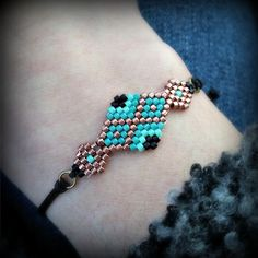 Bracelet tissage brick stitch