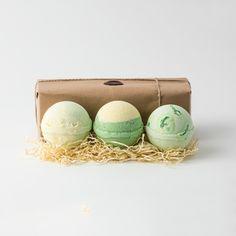 Brighton Soap - Bath Bombs - Melon, Apple Pie & Custard & Kiwi Fruit - Set of 3