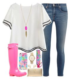 """""""magenta is a great color"""" by okieprep ❤ liked on Polyvore featuring beauty, rag & bone, Hunter, Kendra Scott, Tory Burch, Lilly Pulitzer and Kate Spade"""