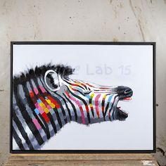 schilderij kleurrijk zebra - Google zoeken