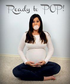 "Pregnancy ""Ready to Pop"" photo! #pregnancy #pregnant #maternity #babybump"