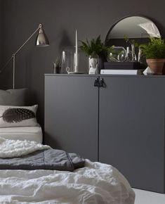 Gravity Home. ton i ton Minimal Bedroom, Modern Master Bedroom, Master Bedroom Design, Interior Design Living Room, Inspiration Ikea, Grey Bedroom With Pop Of Color, Bedroom Decor On A Budget, Interior Design Programs, Gravity Home