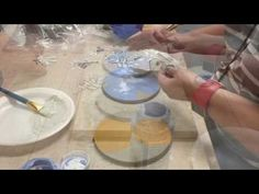 This video is about Paper Stencil and Under Glaze Demo Glazing Techniques, Ceramic Techniques, Pottery Techniques, Glaze Paint, Ceramics Projects, Sgraffito, Ceramic Painting, Clay Crafts, Craft Videos