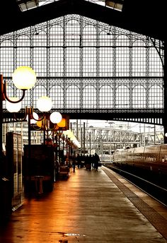 I love to watch the trains come and go when travelling through Gare du Nord Train Station, Paris