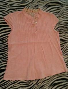 ~ At Last Girls Light Pink Top Shirt Size M 10 12 ~EUC