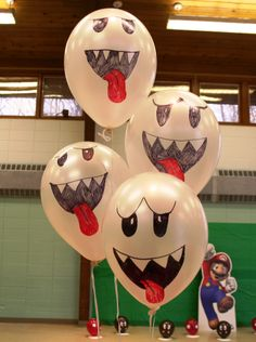 Super Mario party - ghost balloons