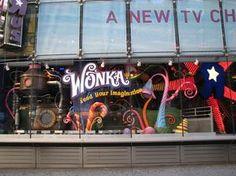 Willy Wonka Candy Window Display by esmereldes, via Flickr