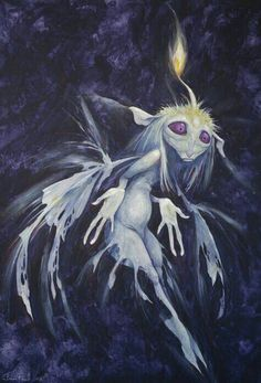 Blue Flame Faery by Brian Froud Más Forest Creatures, Woodland Creatures, Magical Creatures, Fantasy Creatures, Brian Froud, Fantasy World, Fantasy Art, Magia Elemental, La Reverie